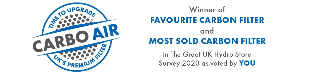 CarboAir filter has claimed another two awards following Garden Culture Magazine's 'The Great UK Hydro Store Survey' for 2020