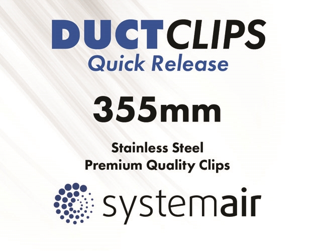 355mm duct clips quick release better by design