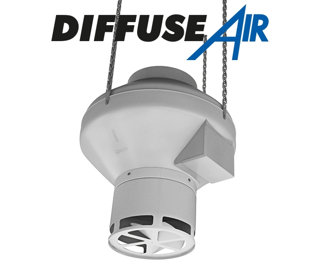 DiffuseAir connected to a RVK 150 A1 fan
