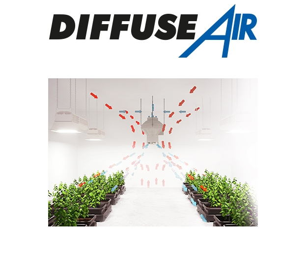 Airflow of the DiffuseAir 250