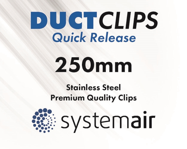 250 mm Stainless steel duct clips
