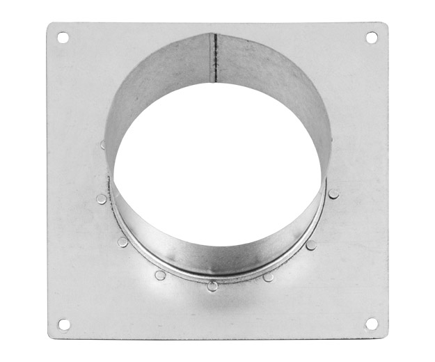 Square Wall Flange 125mm