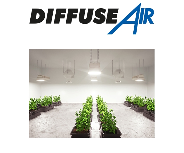 Diffuse Air in a grow room multiple diffuse airs working together