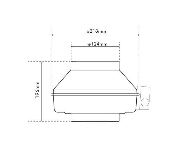 K 125 M Fan Dimensions Drawing