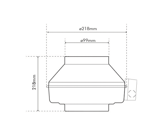 K 100 M AC Dimensions Drawing
