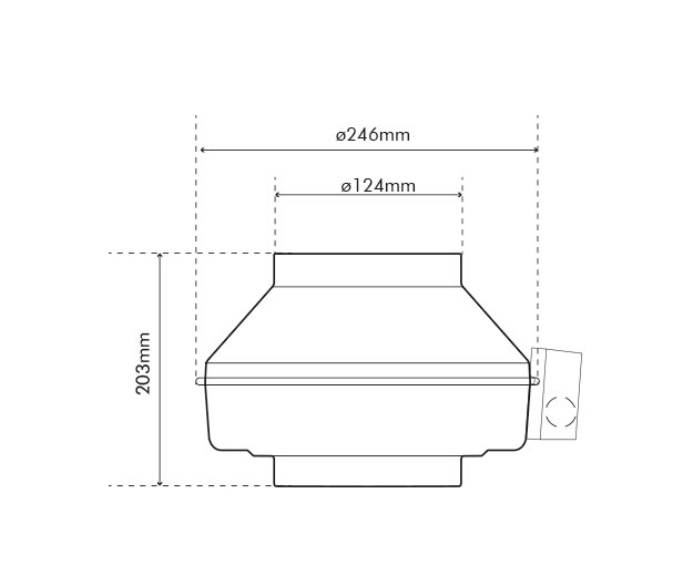 K 125 EC Fan Dimensions
