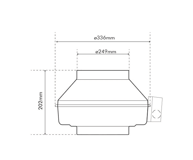K 250 EC Fan Dimensions
