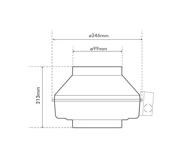 K 100 EC Fan Dimensions